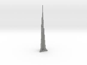 Burj Khalifa - Dubai (1:4000) in Gray PA12