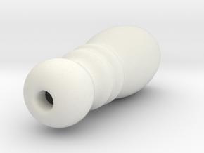 Cord Tassel Wood 05 in White Natural Versatile Plastic