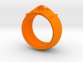 diamond hide ring  in Orange Processed Versatile Plastic