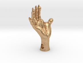 Opossum Foot, 1.5 inch - 4mm Side Hole in Natural Bronze