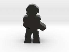 Game Piece, Killer Robot, rifle in Black Natural Versatile Plastic