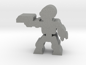 Game Piece, Killer Robot, aiming, pistol in Gray Professional Plastic