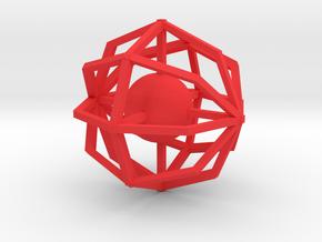 Design #1 in Red Processed Versatile Plastic: Small