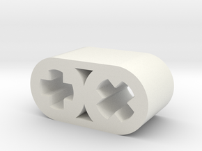 45 Degree Connector in White Natural Versatile Plastic