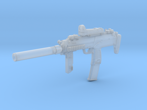 1/16th MP7 tactical 2 Stock Retracted in Smoothest Fine Detail Plastic