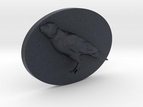 CrowPanda Caricature (001) in Black Professional Plastic