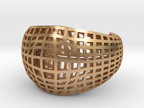 Neo Geometricism* Bangle ( Large ) in Natural Bronze