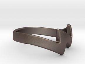 ZUUZ Ring in Polished Bronzed-Silver Steel
