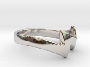 ZUUZ Ring in Rhodium Plated Brass