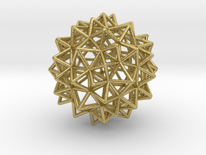 "Stellated Rhombicosidodecahedron 2"" in Natural Brass"