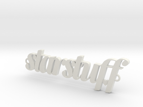 Starstuff pendant in White Natural Versatile Plastic