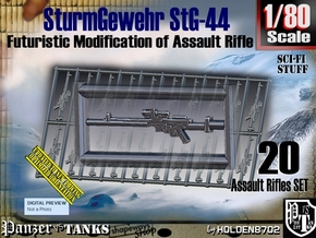 1/80 Sci-Fi StG 44 Set001 in Smooth Fine Detail Plastic