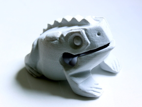 Thai Frog Croaker in White Natural Versatile Plastic