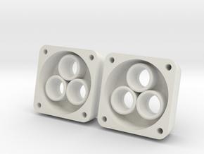 VS410 Vanquish 3 LED Headlight Bucket  in White Natural Versatile Plastic