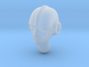 Time Traveler Biotron Head in Smooth Fine Detail Plastic