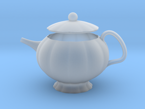 Decorative Teapot in Smooth Fine Detail Plastic