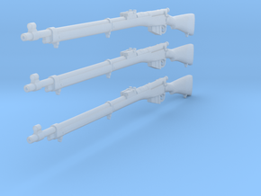 1/12 Lee Enfield Mk1 rifle in Smooth Fine Detail Plastic