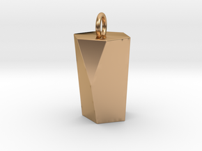 Scutoid Pendant - Version 1 (hollow) in Polished Bronze
