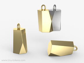 Scutoid Pendant - Version 2 (solid) in Polished Brass