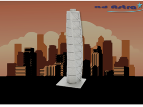 Turning Torso - Malmö (1:2000) in White Natural Versatile Plastic