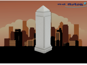 One Canada Square - London (1:4000) in White Natural Versatile Plastic