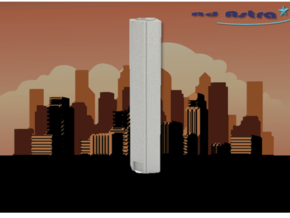 JP Morgan Chase Tower - Houston (1:4000) in White Natural Versatile Plastic