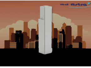 Four World Trade Center - New York (1:4000) in White Natural Versatile Plastic