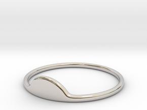 Half-Moon Ring in Rhodium Plated Brass