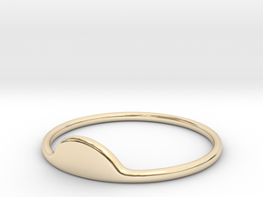Half-Moon Ring in 14k Gold Plated Brass