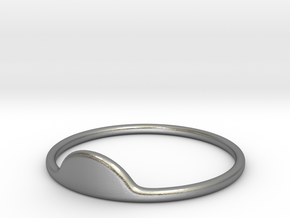 Half-Moon Ring in Natural Silver