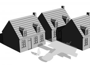 1/350 Town Houses 2 in White Strong & Flexible