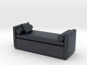 Miniature Ottoman Escher -The Sofa & Chair Company in Black PA12: 1:48 - O