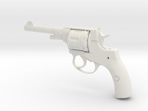 1/3 Scale Nagant Pistol (plastic) in White Natural Versatile Plastic