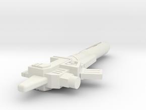 G1 Blaster for Titans Returns Twinferno in White Natural Versatile Plastic
