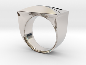 Above and Below Ring in Rhodium Plated Brass