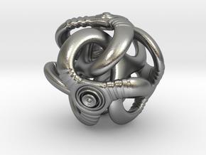 Trilio - Ripples - 20mm in Natural Silver