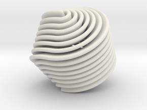 Hexasphericon Retro in White Premium Versatile Plastic