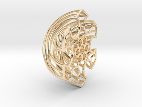 Wireframe Astrolabicon // Side B in 14k Gold Plated Brass