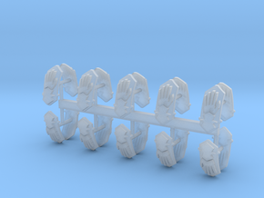 Steel Handed Warriors Shoulder Pad icons #2 in Smooth Fine Detail Plastic