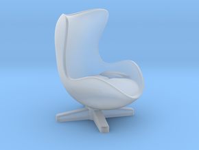 Arne Jacobson Egg Chair Inspired in Smooth Fine Detail Plastic: Medium