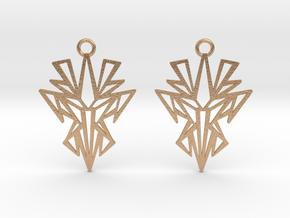 Dark symmetry earrings in Natural Bronze: Small