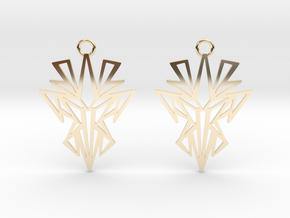 Dark symmetry earrings in 14k Gold Plated Brass: Small