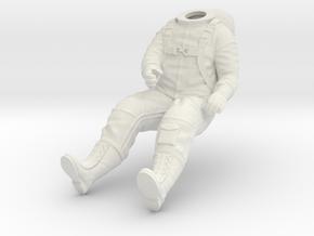 X-15-Pilot 1:18 / 1:24 / 1:48 in White Natural Versatile Plastic: 1:24