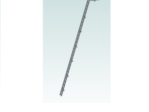 ladder signal  28 Ft with platform in Smooth Fine Detail Plastic