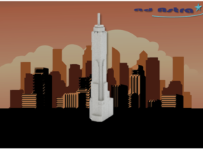 Baiyoke Tower II - Bangkok (1:4000) in White Natural Versatile Plastic