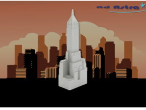 40 Wall Street - New York (1:4000) in White Natural Versatile Plastic