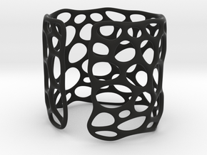 Lattice0104 Cuff Nylon 35 in Black Premium Versatile Plastic