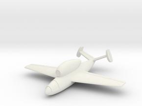 (1:144) Henschel Hs 132D in White Natural Versatile Plastic