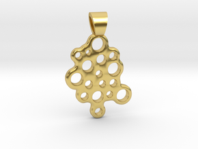 Bubbles [pendant] in Polished Brass