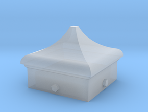 Signal Semaphore Finial (Square Cap) 1:19 scale in Smooth Fine Detail Plastic